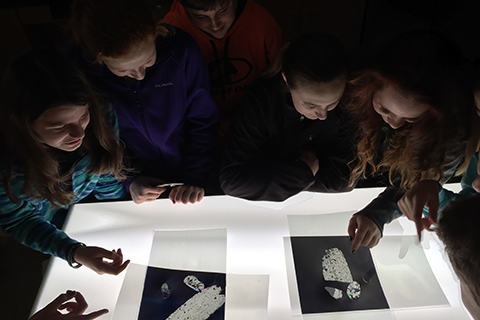 Youth identifying crystals photo
