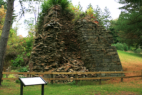 Charcoal Iron Furnace Ruins Exhibit