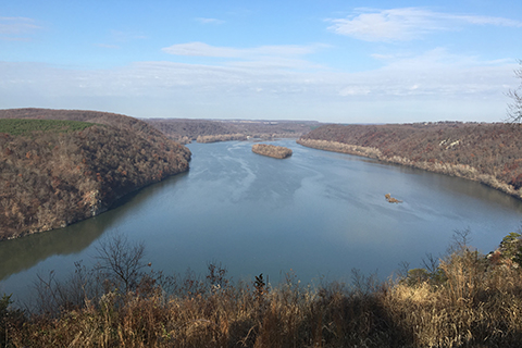 View from the Pinnacle Overlook over the Susquehanna River